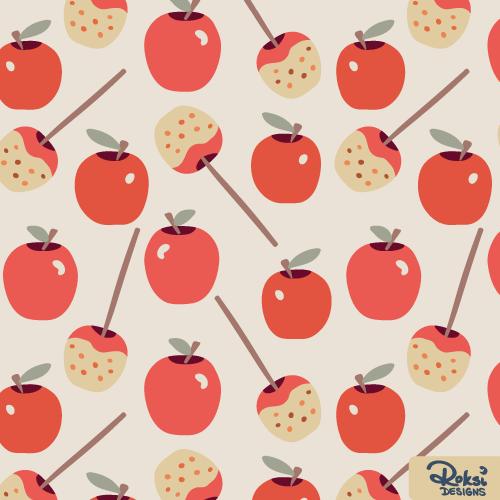 apple fun fall pattern