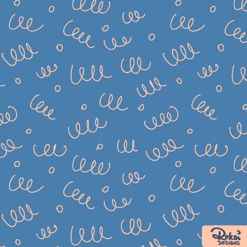 doodly day scribbled pattern