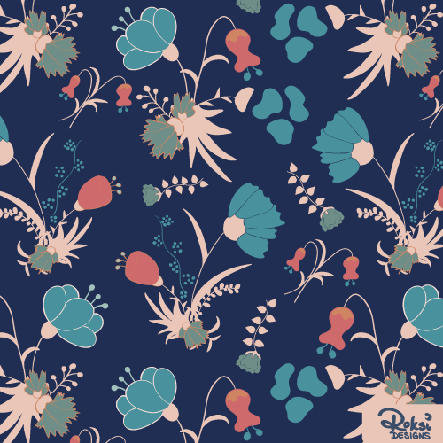 flower bouquet floral pattern