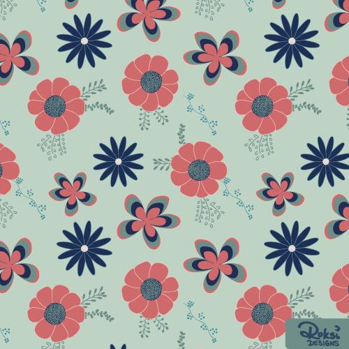flower power floral pattern