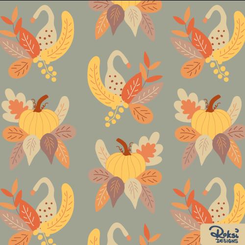 give thanks fall autumn thanksgiving pattern pumpkin