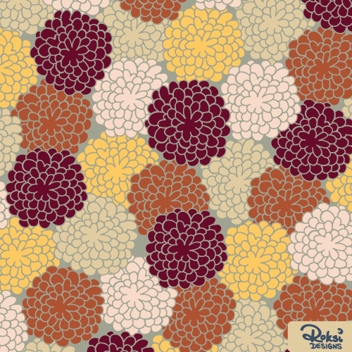 hello autumn fall floral pattern