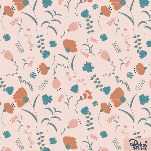 in full bloom floral pattern