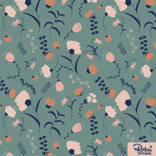 in full bloom II floral pattern