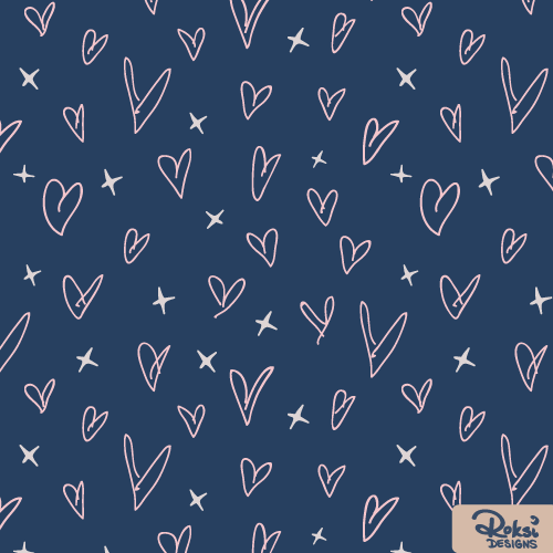 love notes heart pattern