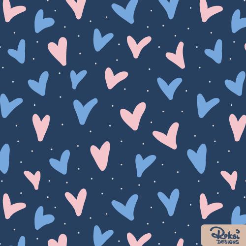 love you always heart pattern