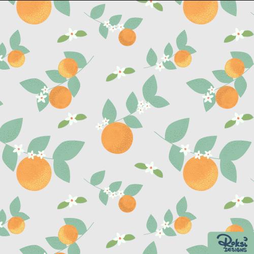 orange love citrus pattern