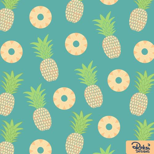pineapple craze beach fruit pattern