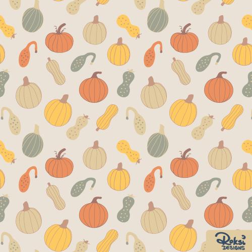 pumpkin patch fall autumn pattern