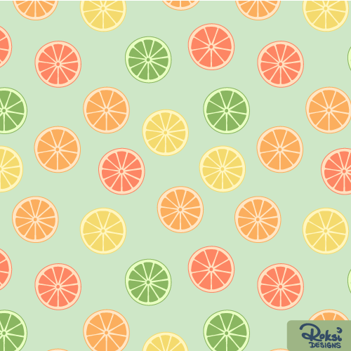 squeeze the day citrus slices pattern