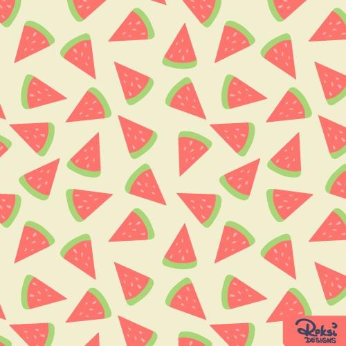 watermelon madness beach summer pattern
