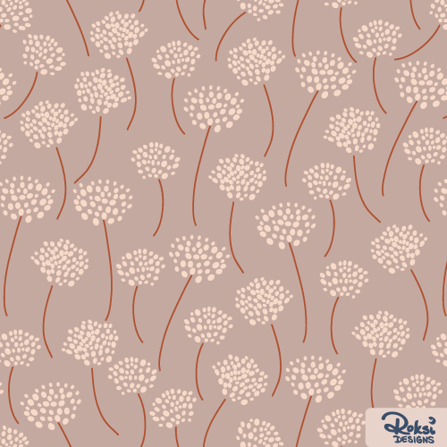 windy day, fall pattern, autumn floral